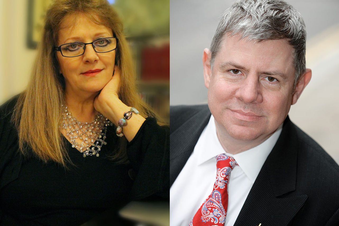 Annette Crossland and Clem Chambers